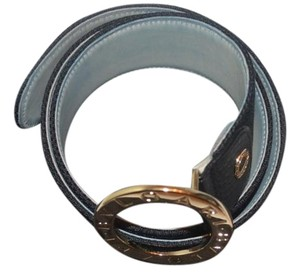BVLGARI Bvlgari belt with gold tone buckle