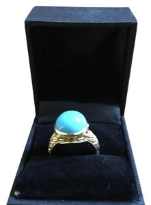 Denise Woods Denise Woods Designed Ring beautiful Turquoise stone in 18KT gold.
