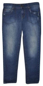 DKNY Distressed Ankle Length Casual Skinny Jeans-Distressed