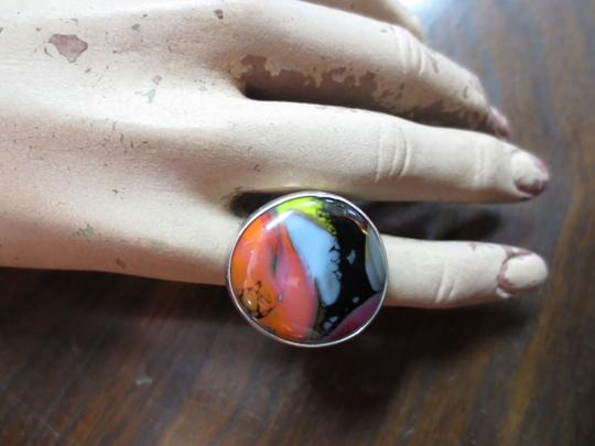 Other Vintage Art Glass and Sterling Silver Ring Size 6