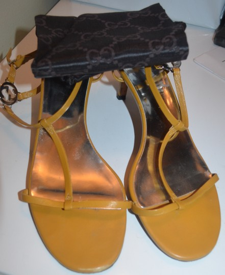 Gucci Strappy yellow leather Sandals Image 1