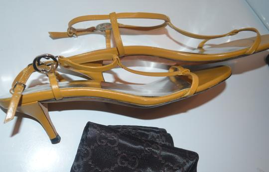 Gucci Strappy yellow leather Sandals Image 2