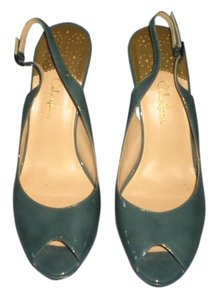 Cole Haan Slingback Heels green Sandals
