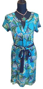 Lilly Pulitzer short dress Blue/gree on Tradesy