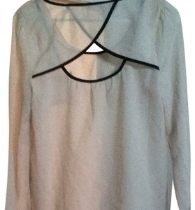 Edge Clothing Top Light Cream And Black