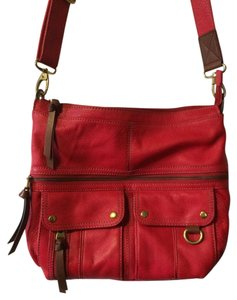 Fossil Red Messenger Bag