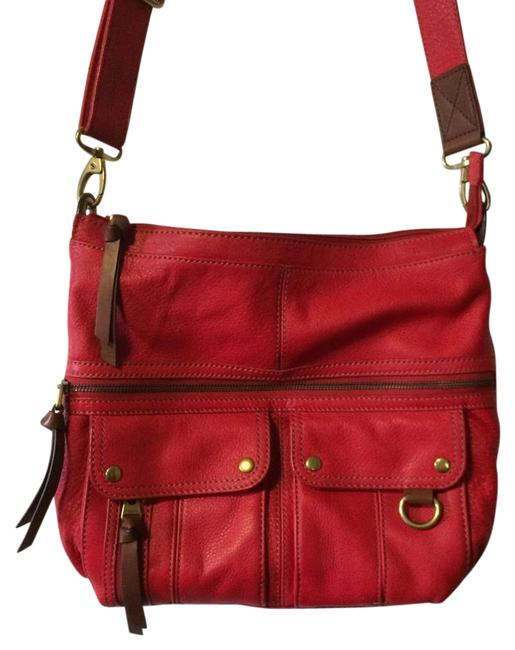 Item - Red Leather Messenger Bag