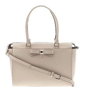 Kate Spade Leather Tote in beige