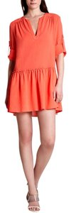 BCBGMAXAZRIA short dress coral Bcbg Shirtdress Shirt on Tradesy