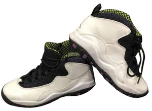 Air Jordan White, black, purple, lime green Athletic