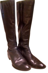 Børn Leather Knee-high Western Black Boots