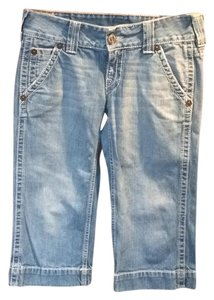 Capri cut, True Religion, light wash Capri/Cropped Denim