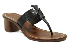Tory Burch Moore 45mm Tumbled Black Sandals