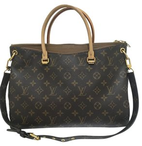 Louis Vuitton Pallas Havane Handbag Satchel in Brown