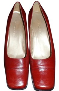 Enzo Angiolini Leather Red Leather Pumps