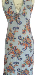 Blue paisley Maxi Dress by Free People