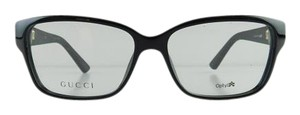 Gucci New Gucci GG 3717 INA Black Diamond Acetate Full-Frame Eyeglasses 53mm Made in Italy