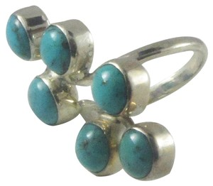 Island Silversmith Island Silversmith 6 Stone Turquoise .925 Sterling Silver Ring (Adj Sz 6-9) 0701K *FREE SHIPPING*