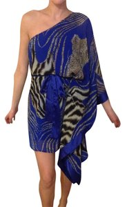 Arden B short dress Blue And Leopard. on Tradesy