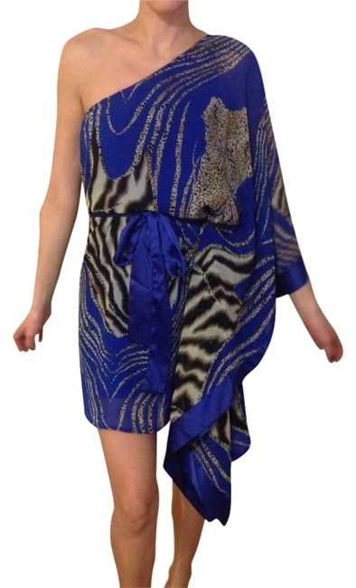 Arden B. short dress Blue And Leopard. on Tradesy