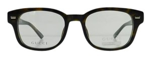 Gucci New Gucci GG 1081 WR9 Brown Havana Acetate Full-Frame Eyeglasses 50mm Made in Italy