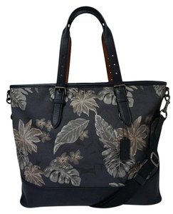 Coach Tote in Grey Palm Leaves