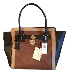 Emma Fox Tote in tri color - browns/tan