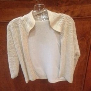 Vintage Sequin Champagne Top Off white