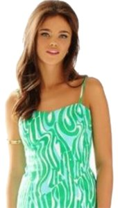 Lilly Pulitzer Top Shorely Blue Prep Green White