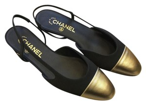 Chanel Black/Golden Flats