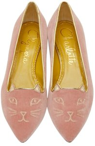 05eb55a3ac8 Pink Charlotte Olympia Flats - Up to 90% off at Tradesy