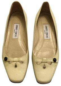 Jimmy Choo Ivory/yellow Flats