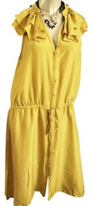 Ann Taylor LOFT short dress Mustard on Tradesy