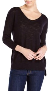 Cupio Hi-low Knit Three-quarter Sleeve Sweater