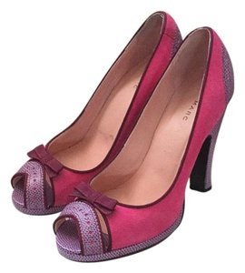 Marc by Marc Jacobs Peep Toe Two Tone 004-fuxia Platforms
