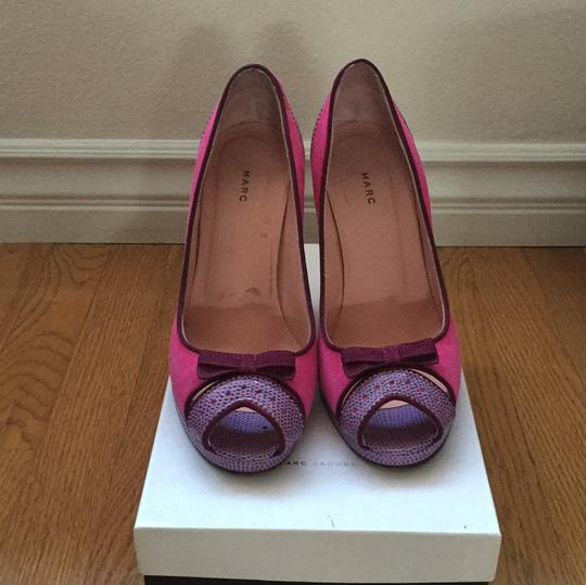Marc by Marc Jacobs Peep Toe Two Tone 004-fuxia Platforms Image 1