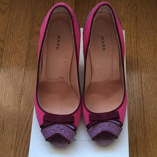 Marc by Marc Jacobs Peep Toe Two Tone 004-fuxia Platforms Image 2