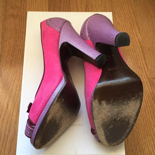Marc by Marc Jacobs Peep Toe Two Tone 004-fuxia Platforms Image 4