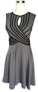 Ya Los Angeles short dress Gray and black Keyhole on Tradesy
