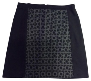 Laundry by Shelli Segal Mini Mini Skirt Black and Gray
