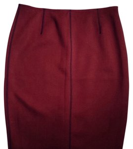 Ann Taylor Skirt Burgundy