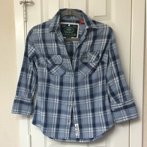 Super Dry Button Down Shirt blue