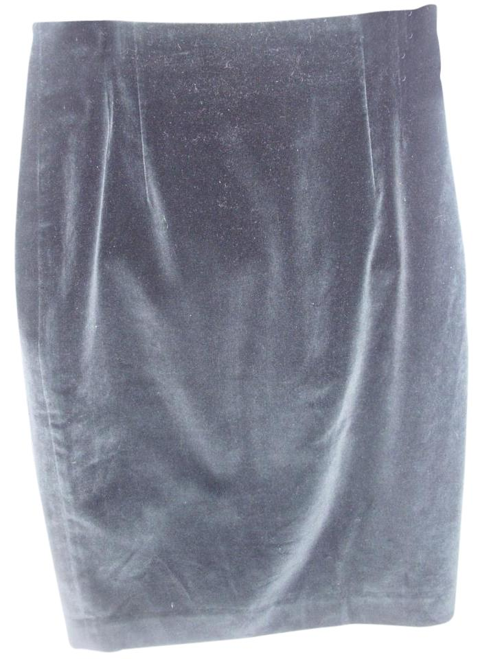 c24df32a5ab Jones New York Velvet Velour Pencil Designer Feminine Skirt black Image 0  ...