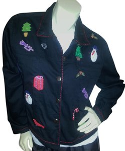 Life Style Black Womens Jean Jacket