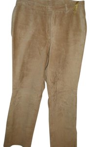 INC International Concepts Suede Leather Gold Dress Jean Boot Cut Pants goldenrod