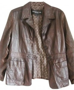 Kenneth Cole Leather Women Leather Leather Real Leather Leather Leather M 10 Designer Leather Designer Coat Designer brown Jacket
