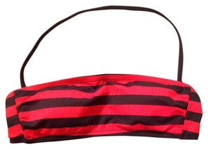 Kate Spade Kate Spade Saturday Red/Inkster Striped Bandeau Top