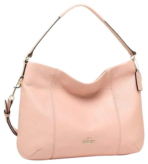 0942228eabb1 Coach Isabelle Pebble Crossbody New Light Pink Leather Hobo Bag ...