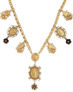 Dolce&Gabbana Madonne Gold-Plated Brass Necklace
