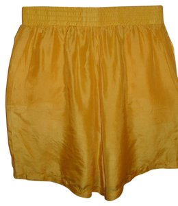 H.L. Spencer Silk Vintage Athletic Dress Shorts yellow
